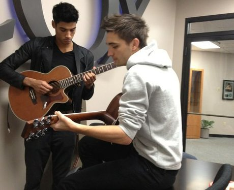 Siva and Tom from The Wanted