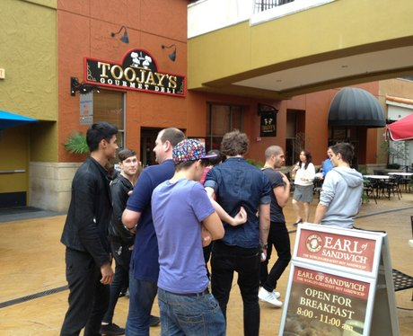 The Wanted at shopping mall