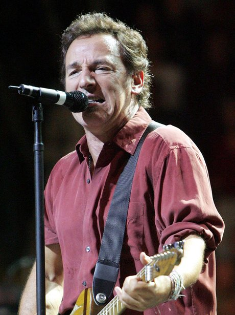 Bruce Springsteen performs live on stage