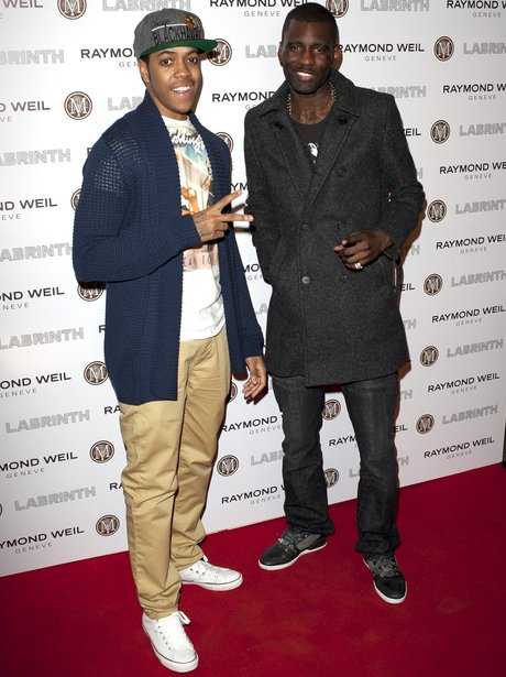 Chipmunk and Wretch 32 attend the Pre-Brit Awards