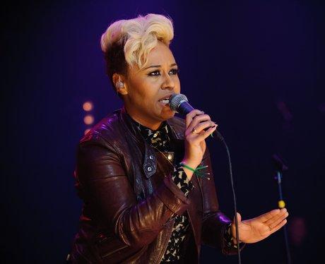 Emeli Sande live on stage.