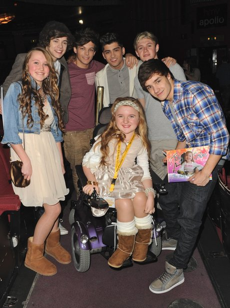 One Direction meet fans backstage