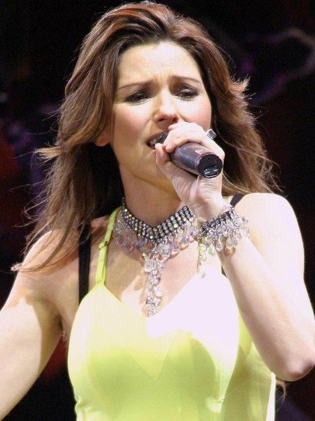 Shania Twain on stage
