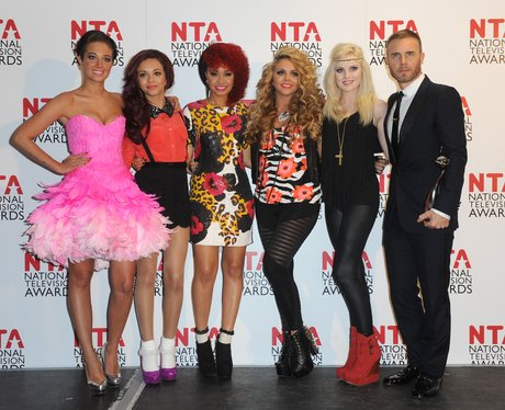 Tulisa, Little Mix and Gary Barlow