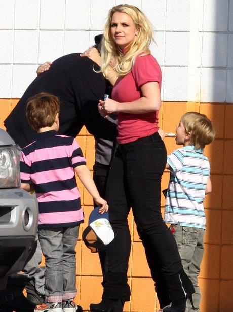 Britney Spears with her children