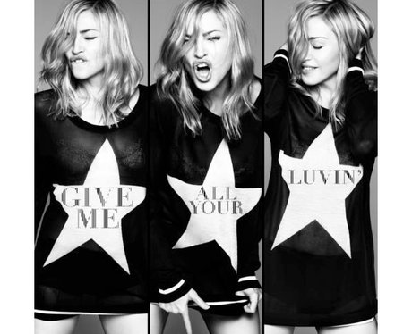 Madonna's 'Give Me All Your Luvin' single cover.