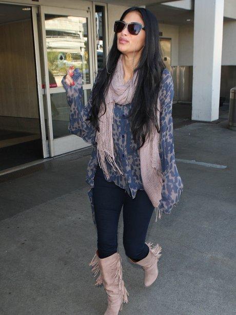 Nicole Scherzinger arrives at LAX airport