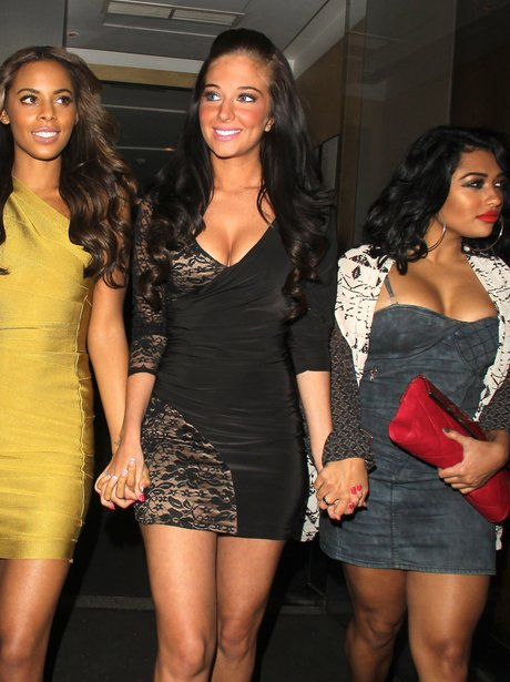 Tulisa with Rochelle Wiseman and Vanessa White from The Saturdays