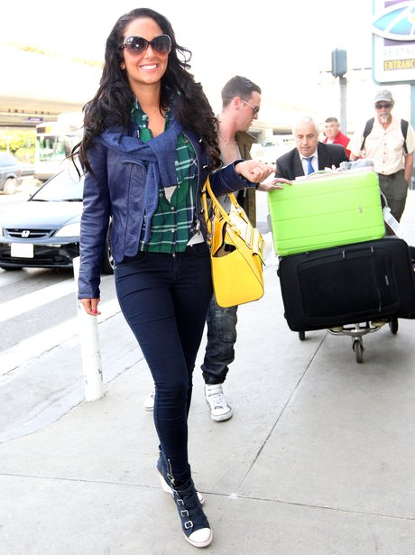 Tulisa pictured in America