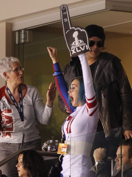 Katy Perry at Super Bowl 2012