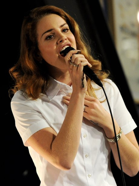 Lana Del Ray performs on stage