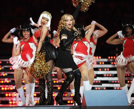 Madonna and Nicki Minaj Super Bowl 2012
