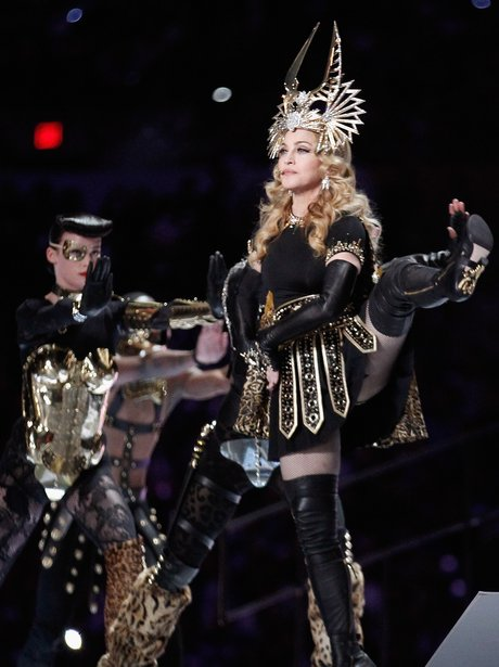 Madonna performs at Super Bowl 2012