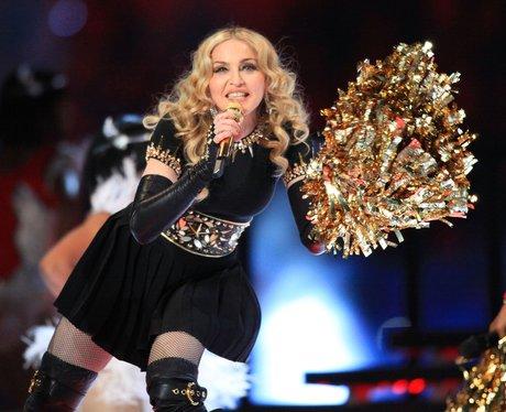 Madonna performs at Super Bowl 2012