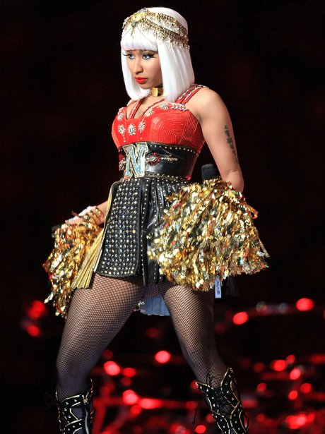 Nicki Minaj performs at Super Bowl 2012