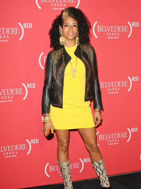 Kelis attends pre Grammy Awards 2012