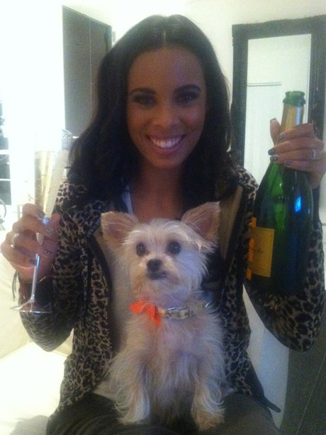 Rochelle Wiseman with her pet dog