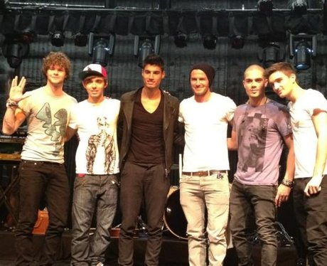 The Wanted are joined by David Beckham in LA