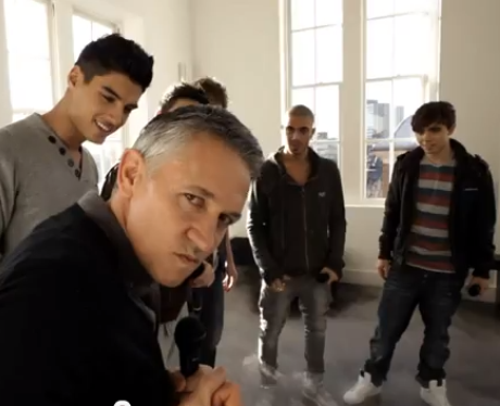Gary joins The Wanted in new walkers advert