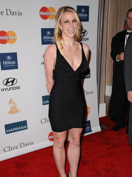 Britney Spears Pre Grammy Awards Party 2012