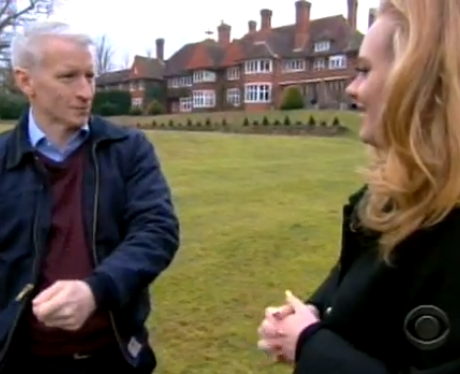 Adele takes a US presenter to her UK home.