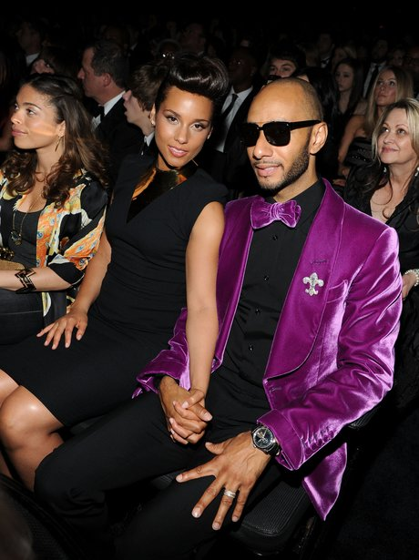 Alicia Keys backstage at Grammy Awards 2012