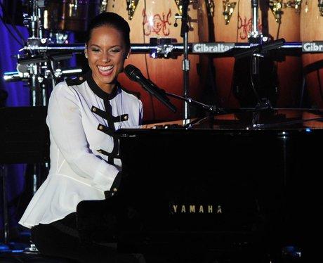 Alicia Keys pre Grammy Awards 2012