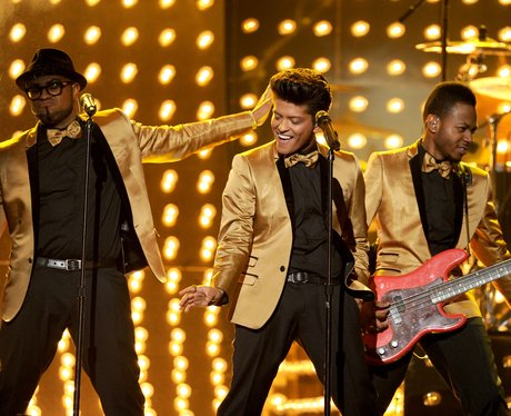 Bruno Mars performs at the 2012 Grammy Awards