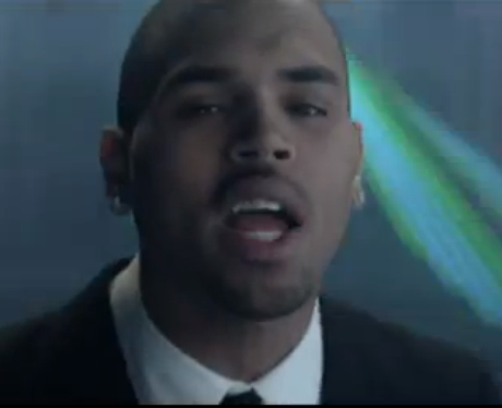 Chris brown in new music video