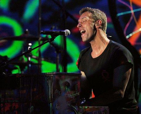 Chris Martin performs at Grammys