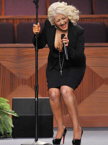 Christina Aguilera Fake Tan