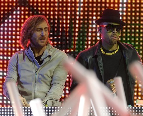 David Guetta and Chris Brown live at the Grammy Aw