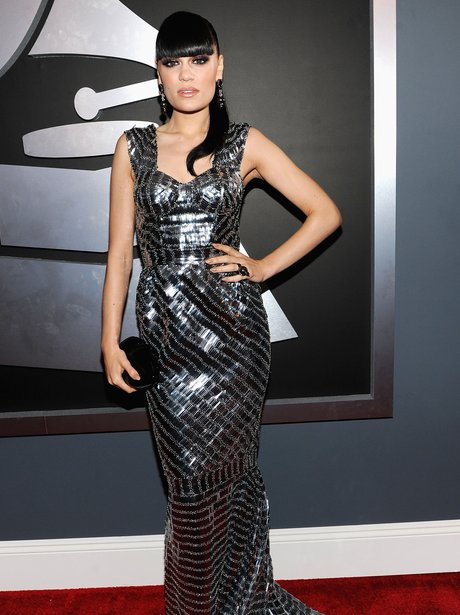 Jessie J arrives at the Grammy Awards 2012