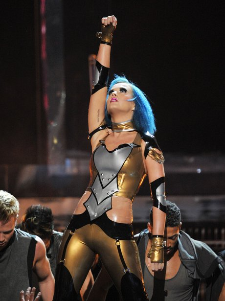 Katy Perry performs at Grammy Awards 2012