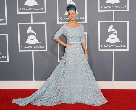 Katy Perry on the red carpet at Grammy Awards