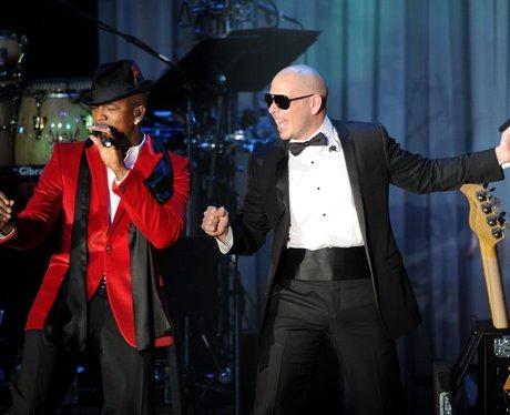Ne-Yo  and Pit Bull Pre Grammy Awards Party