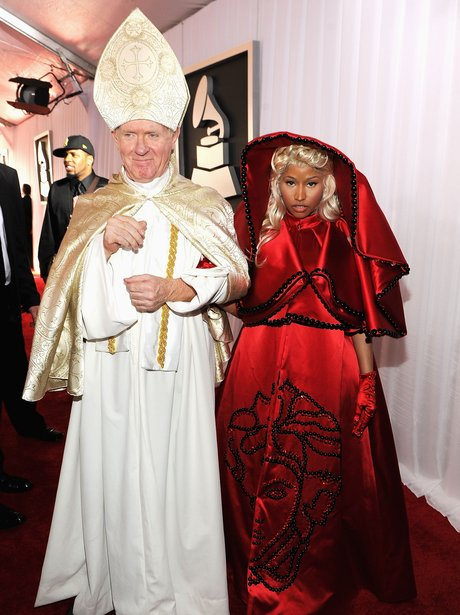 Nicki Minaj attends the  Grammy Awards 2012