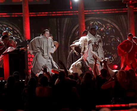 Nicki Minaj performs at the Grammy Award 2012