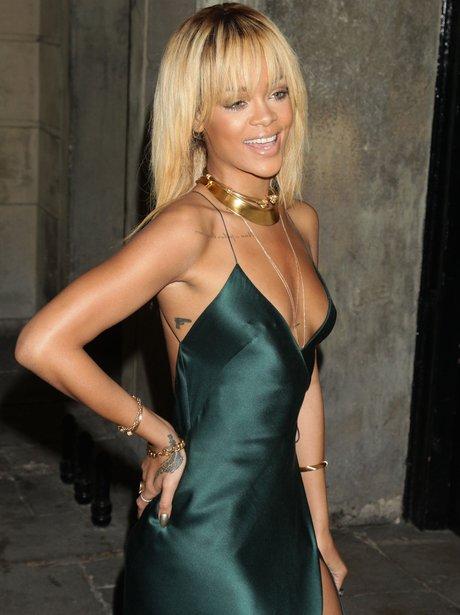 Rihanna attends LFW