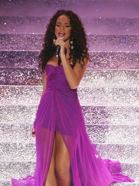 Rihanna performs on stage during the World Music A