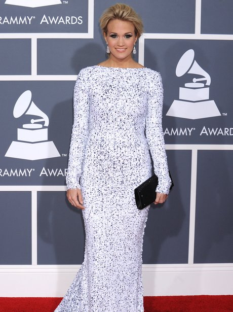 Carrie Underwood at the Grammys in 2012