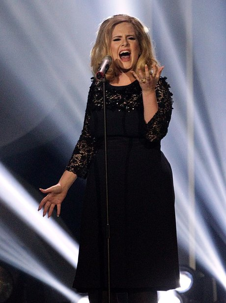 Adele performs at the BRITs 2012