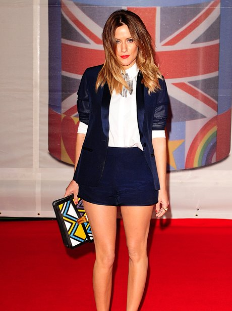Caroline Flack arrives at the BRIT awards 2012