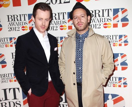 Chase and Status arrive at the BRIT Awards 2012