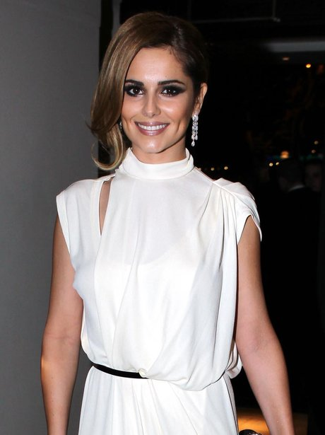 Cheryl Cole in grecian dress
