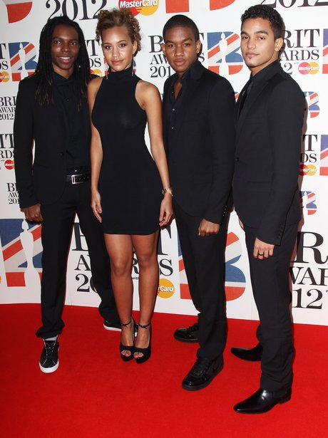 Cover Drive attends the BRIT Awards 2012