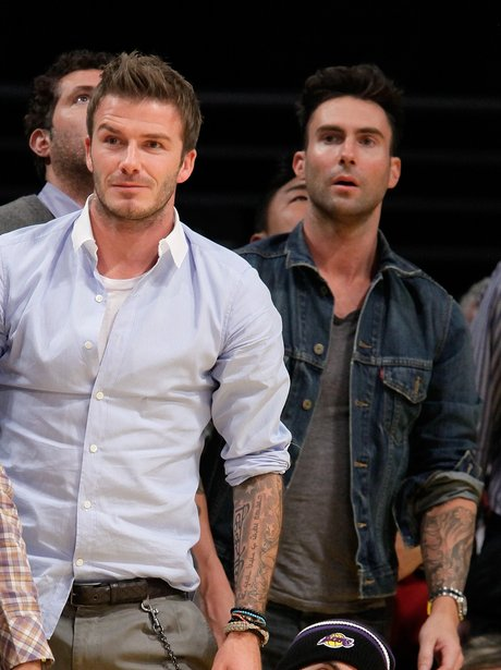 David Beckham and Adam Levine
