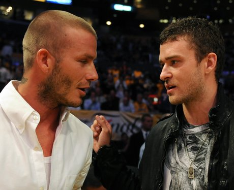David Beckham and Justin Timberlake