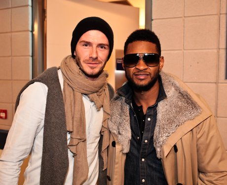 David Beckham and Usher
