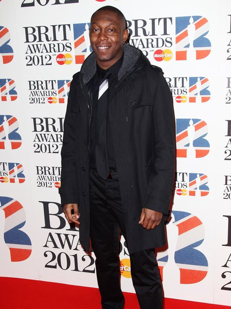 Dizzee Rascal on the red carpet at the BRIT Awards